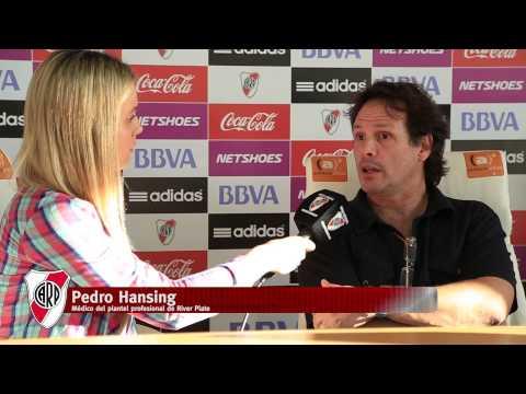 Pedro Hansing y el parte médico de los jugadores de River
