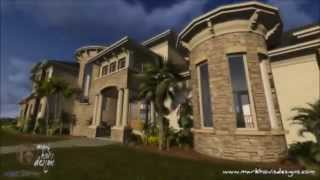Custom Mediterranean Style Home Design Mark Hovis Designs