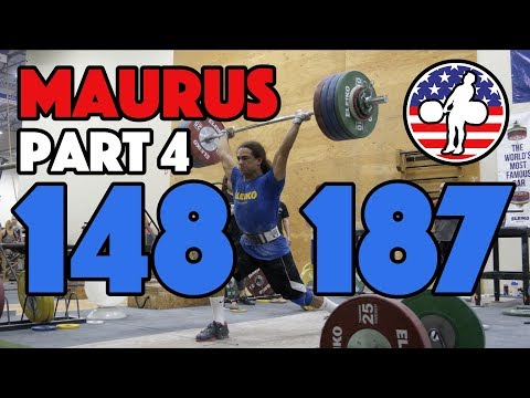 Harrison Maurus Part 4/11 Pre 2017 WWC Training 148kg Snatch 187kg Clean And Jerk 3 Waves [4k60]