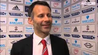 Southampton Vs Manchester United 1 1     Ryan Giggs Interview   May 11 2014
