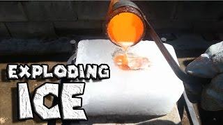 Если вылить расплавленную медь на глыбу льда