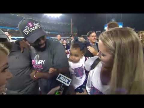Video: CUTENESS ALERT: Jackie Bradley's Daughter, Chris Sale's Son Celebrate World Series