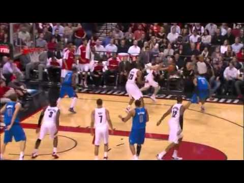 Rudy Fernandez to LaMarcus Aldridge's dunk