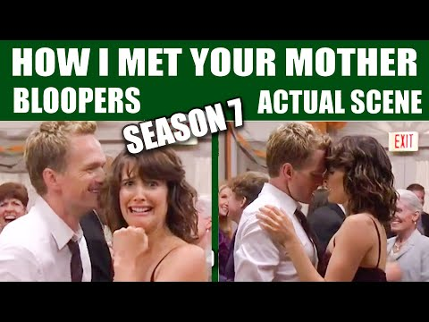 How I Met Your Mother | Season 7 Bloopers vs Actual Scenes