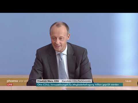 Pressekonferenz mit Friedrich Merz zu seiner Kandidat ...