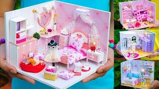 5 DIY Miniature Doll House Girl Rooms