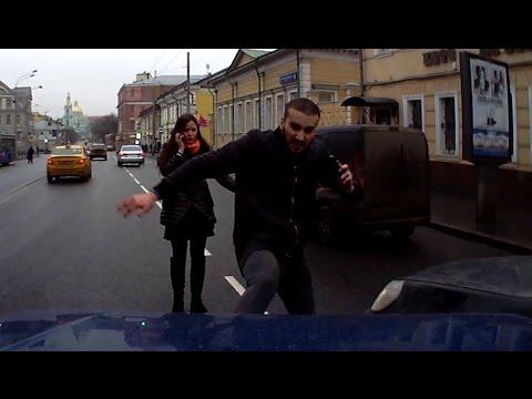 Буйный горец разбил ниву в центре москвы