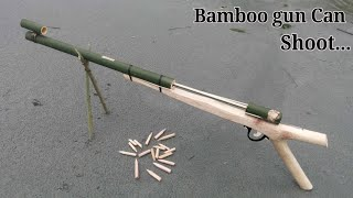 Video Home Make GUN | How to make a gun using Bamboo and wooden MP3, 3GP, MP4, WEBM, AVI, FLV Desember 2018