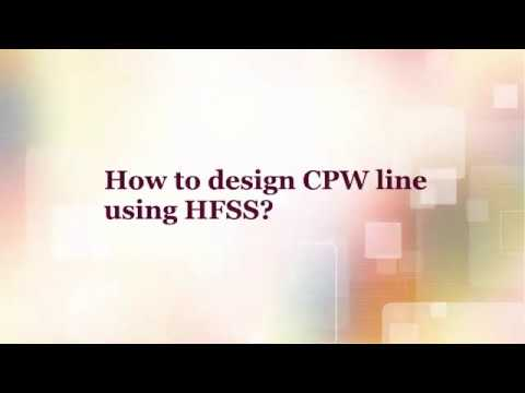 Design of 50 Ω CPW line (Coplanar waveguide line) using HFSS and exciting waveport.