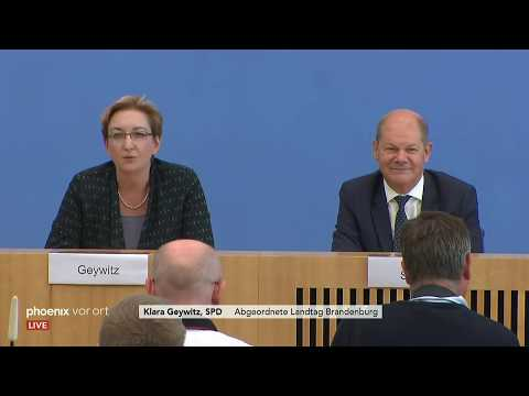 Olaf Scholz und Klara Geywitz zu ihrer möglichen Kandidatur um den SPD-Parteivorsitz