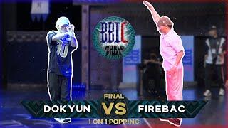 Dokyun vs Fire Bac – BBIC 2021 Day. 1 1on1 POPPING BATTLE FINAL