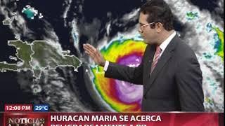 Huracán María se acerca peligrosamente a RD
