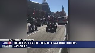 Officers try to stop ATV, bike riders in Nashville