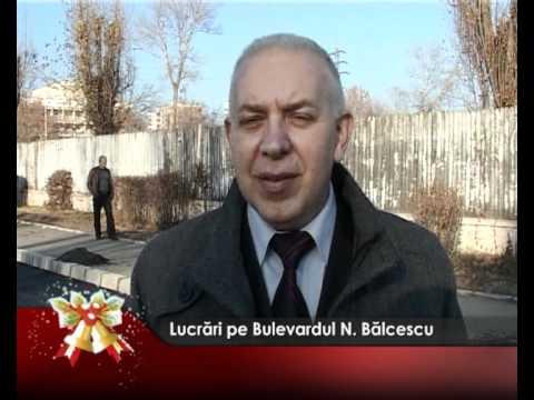 Lucrări pe Bulevardul N. Bălcescu