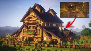 Minecraft: How to build a Barn tutorial!                                   (ULTIMATE FARM)