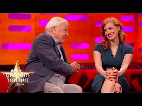Sir David Attenborough Hits On Jessica Chastain - The Graham Norton Show