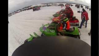 10. Pro 500 Win on Arctic Cat 01 ZR 440 Sno Pro Dyckesville Snowmobile Lakecross Race 2-23-2013