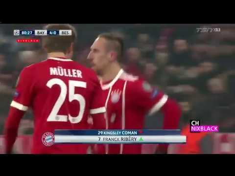 Bayern Munich vs Besiktas 5-0 All Goals & Highlights 20/02/2018