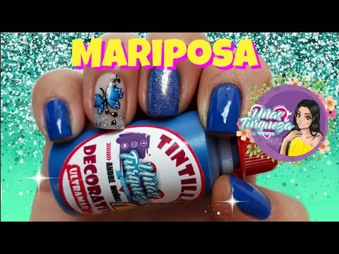 Decoracion de uñas -  Diseños de uñas de mariposas Butterfly nail designs