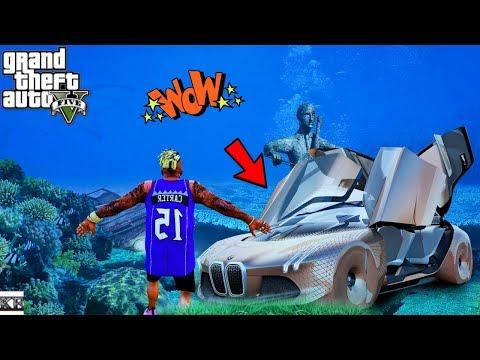GTA 5-*WOW* Underwater Concept Super Car (GTA 5 Real Life Mods Season 11 #8)