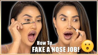 Video NOSE JOB WITHOUT PLASTIC SURGERY! ... **NOT Clickbait!** | BrittanyBearMakeup MP3, 3GP, MP4, WEBM, AVI, FLV November 2018