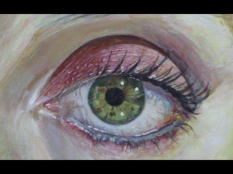 Wie malt man eine auge mit Acryl – Malen mit Acrylfarben lernen