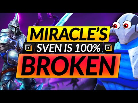 Why Miracle's SVEN is 100% BROKEN - FASTEST FARMING CARRY Tips - Dota 2 Guide