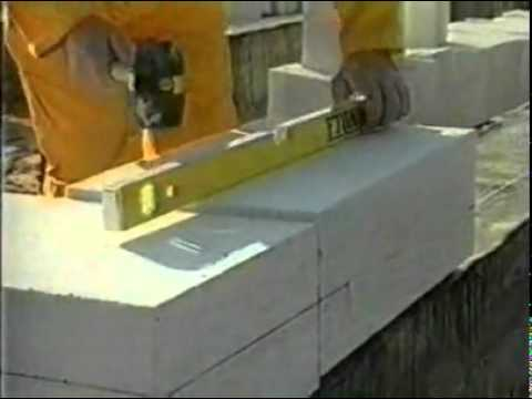 Подготовка и строительство дома из газобетона