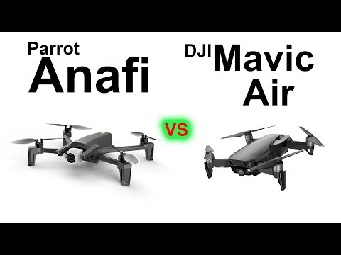 PARROT Anafi vs DJI Mavic Air HANDS ON Full Comparison