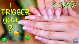 💤 In this ASMR video I make noises with only my natural nails [baby nails growing...! ] I rub my nails together and click them! FLICKING sound of nails +++ TAPPING & SCRATCHING my skin, HAND MOVEMENT and MIC-scratching too!!!!! 😴 ...I hope you like all of this and enjoy my new video for you! ❤️Suggestions are always welcome!!! ...PLEASE leave me comments, share this video with your friends, write me and subscribe on my channel! ♥ I'll really appreciate it!THANK YOU SO MUCH! ❤️I want to make high quality video, with special items and perfect sound, but to do that I also need you!I need your support to be able to buy new tools, particularly new professional microphones (I'd like   3 D i o  microphone!)!!I need your support to improve and grow more and more and at the same time to offer products of higher quality and amazing!I hope to have a helping hand from you who support me and believe in me! Each month I'll publish for you new videos...10-11 at least!The ASMR is a wonderful world that must be supported, especially here in Italy, where it still is not well known. The ASMR gives countless benefits to the people, can help stress, depression, anxiety, sadness. etc.I'll do everything to make you feel better and help you relax! 💤 ----------------------------------------SUPPORT MY CHANNEL----------------------------------------✦ SUPPORT ME with PAYPALif you want help me to improve the quality of this channel:https://www.paypal.com/cgi-bin/webscr?cmd=_s-xclick&hosted_button_id=JLDPTT9GLDES4Thank you very much for your generosity and kindness ❤️✦ PATREON: https://www.patreon.com/dani89---------------------FOLLOW ME---------------------✦ FACEBOOK dani 89: https://www.facebook.com/dani89longnaturalnails✦ INSTAGRAM: https://www.instagram.com/dani89_officialpage/✦ (second channel YouTube) dani ASMR: https://www.youtube.com/channel/UChR0iHoF8N_KRrIyhH-Plig---------------------------------------------------------------For BUSINESS and PRIVATE INQUIRIES---------------------------------------------------------------✎ If you want me to try your products or for any other request, please contact me on ✉ daniela.uptodate@gmail.com