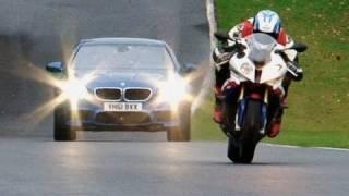 Video New BMW M5 vs BMW S1000RR superbike MP3, 3GP, MP4, WEBM, AVI, FLV Juli 2018