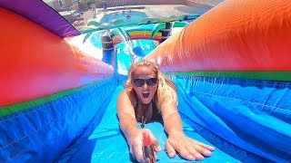 WORLD'S BIGGEST INFLATABLE WATER SLIDE!!