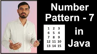 Number Pattern - 7 Program (Logic) in Java by Deepak