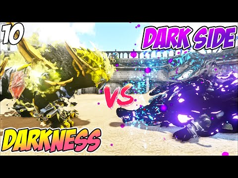 TERKALAHKAN Darkness White Tiger VS Sarco Dark Side - ARK Gladiator Indonesia #10
