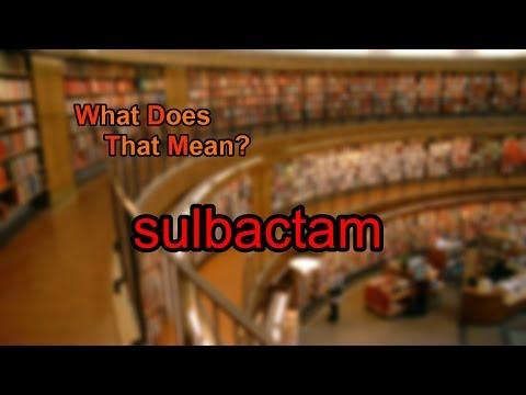 What does sulbactam mean?