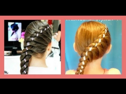 "Diagonal Twist Braid With Ribbon ""braided hairstyles"""
