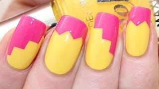 Zig-Zag Baking Paper Nail Art Tutorial - YouTube