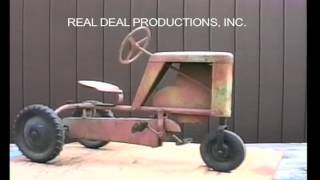"""Information on the New Monarch Pedal Tractor.  From our video on pedal tractors. It includes a visual descriptive study of each pedal tractor. Check out our facebook page """"Pedal Tractors"""" or our website www.arealdealproductions.com. We carry  a full line of pedal parts and pedal tractors."""