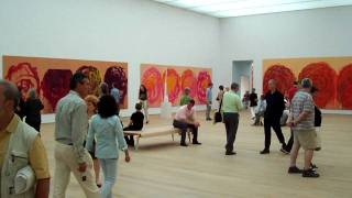 The Rose Cycle of Cy Twombly in the Brandhorst Museum Munich Germany.