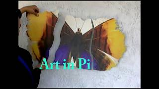 chopped butterfly art: How to create and play with art pieces
