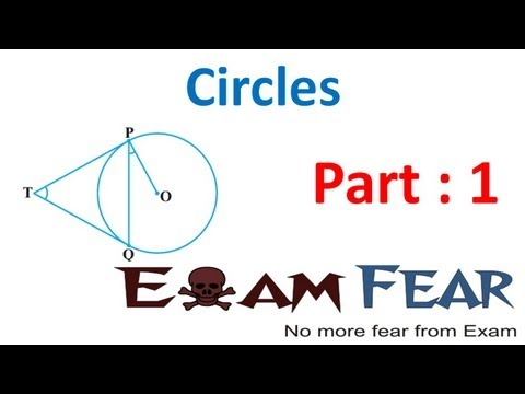 Maths Circles part 1 (Introduction) CBSE class 10 Mathematics X
