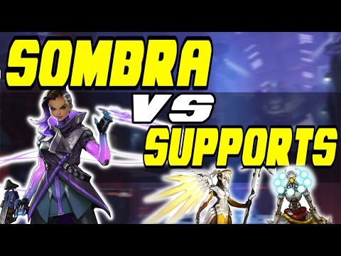 Does Sombra Lose To Supports?? - Sombra DPS Tests Vs Supports | Overwatch Sombra Interactions (видео)
