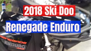 2. 2018 ski Doo renegade Enduro 900 ace