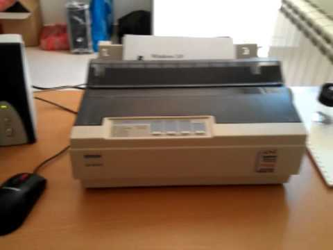 how to test print epson lq-2180