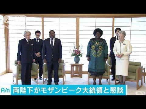 両陛下 来日中のモザンビーク大統領夫妻と懇談 (Việt Sub)