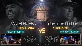Ultimate Rap League | Math Hoffa vs. John John Da Don
