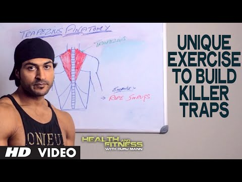 Unique Exercise to Build KILLER TRAPS | Health and Fitness Tips | Guru Mann