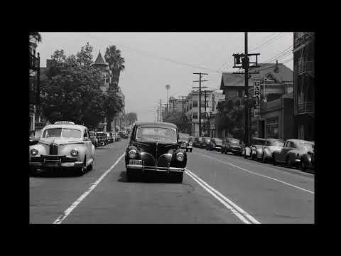Bunker Hill und Downtown: Fahrt durch Los Angeles ca. ...