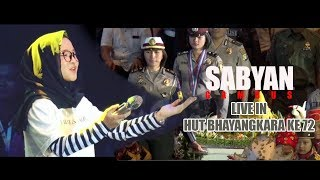 Video SABYAN GAMBUS Live Di HUT BHAYANGKARA KE -72, Bikin Adem Suaranya MP3, 3GP, MP4, WEBM, AVI, FLV September 2018