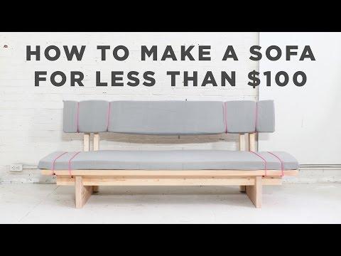 Como hacer un sofa cama for Sofa exterior casero